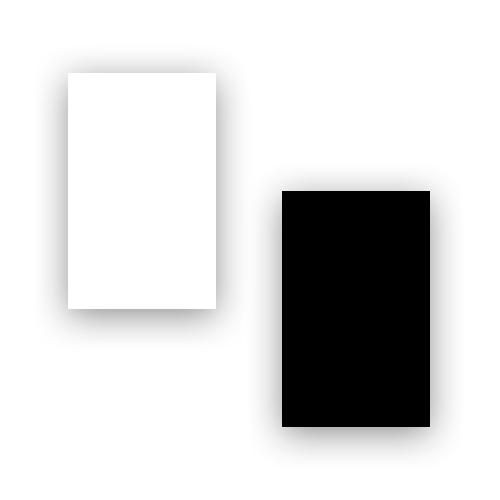 Fórmicas Branco / Preto