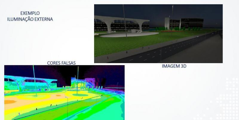 Projeto luminotécnico industrial