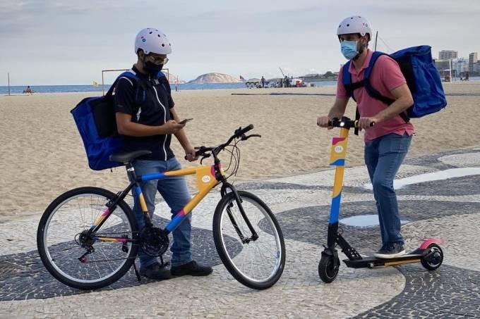 C&A testa entregas com bicicletas e patinete