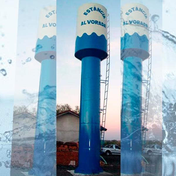 Caixa d`água elevada metálica