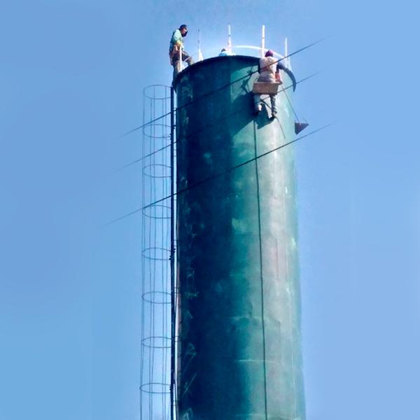 Manutenção de castelo d água