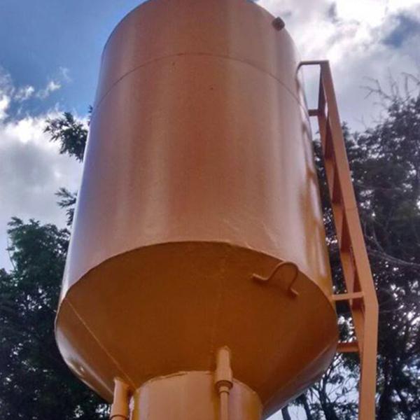 Reforma de caixa d água metálica